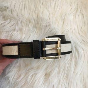 gucci belt w/ gold buckle